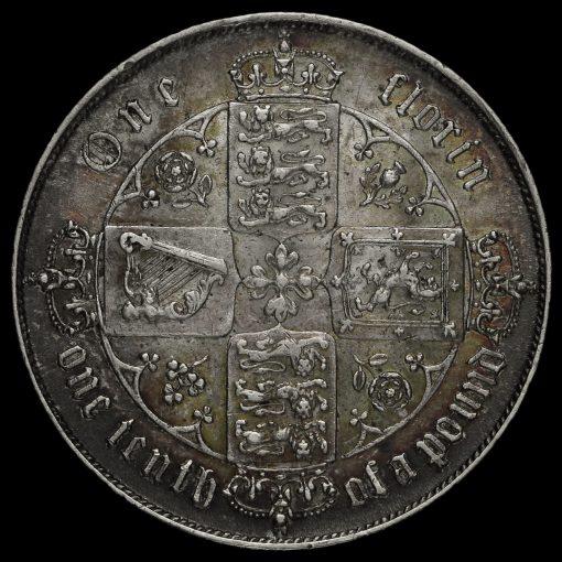 1872 Queen Victoria Gothic Florin Reverse