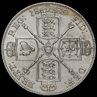 1889 Queen Victoria Jubilee Head Silver Double Florin Reverse