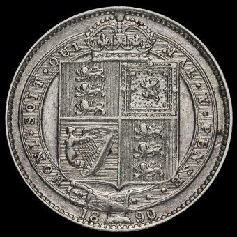 1890 Queen Victoria Jubilee Head Silver Shilling Reverse