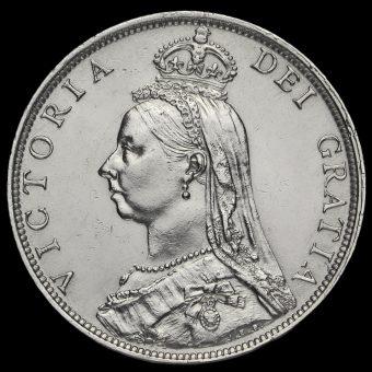 1892 Queen Victoria Jubilee Head Silver Florin Obverse