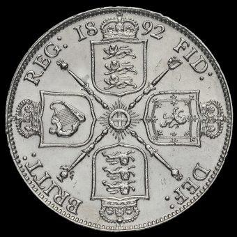 1892 Queen Victoria Jubilee Head Silver Florin Reverse