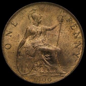 1900 Queen Victoria Penny Reverse