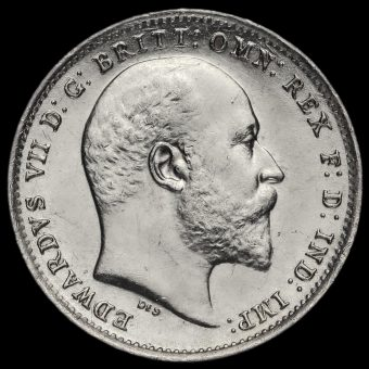 1902 Edward VII Silver Threepence Obverse