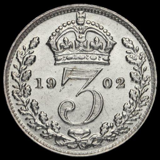 1902 Edward VII Silver Threepence Reverse