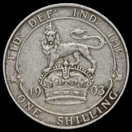 1903 Edward VII Silver Shilling Reverse
