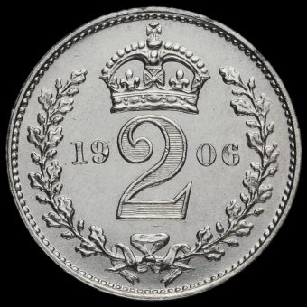 1906 Edward VII Silver Maundy Twopence Reverse
