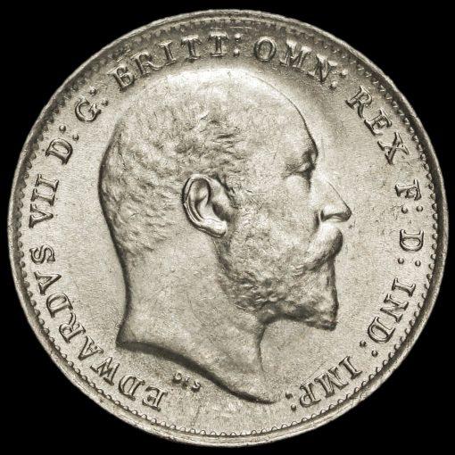 1908 Edward VII Silver Threepence Obverse
