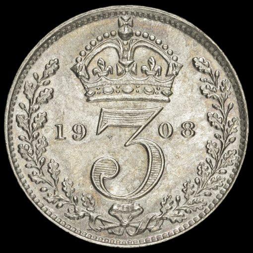 1908 Edward VII Silver Threepence Reverse