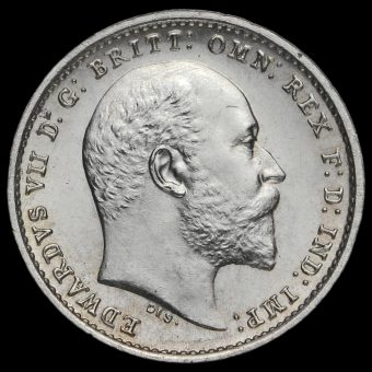 1908 Edward VII Silver Maundy Twopence Obverse