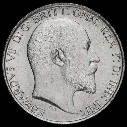 1910 Edward VII Silver Florin Obverse