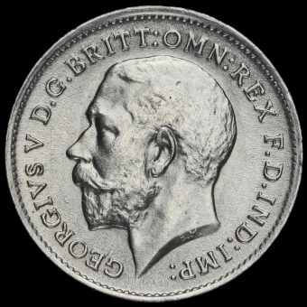 1911 George V Silver Threepence Obverse