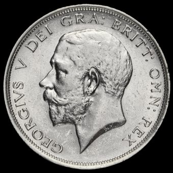 1915 George V Silver Half Crown Obverse