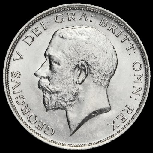 1917 George V Silver Half Crown Obverse