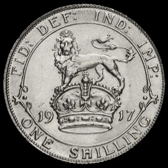 1917 George V Silver Shilling Reverse