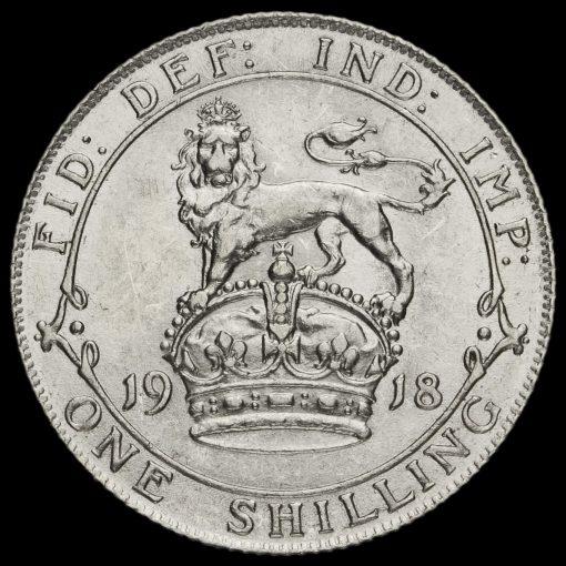 1918 George V Silver Shilling Reverse