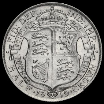 1919 George V Silver Half Crown Reverse