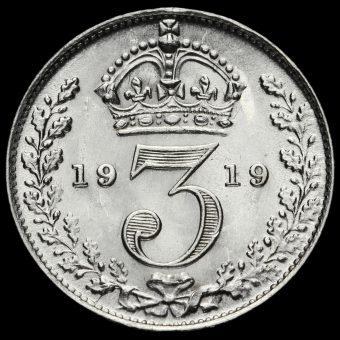 1919 George V Silver Threepence Reverse