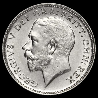 1920 George V Silver Sixpence Obverse