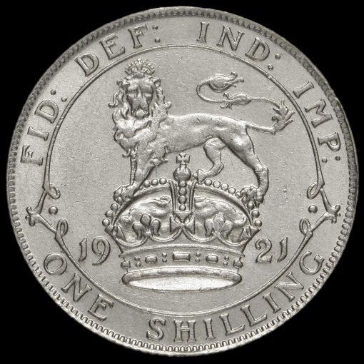 1921 George V Silver Shilling Reverse