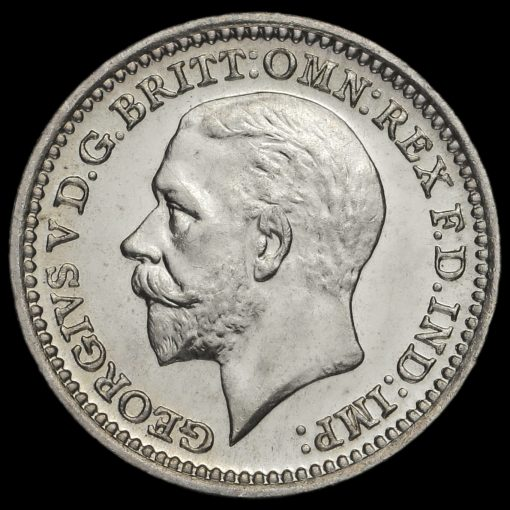 1931 George V Silver Maundy Twopence Obverse
