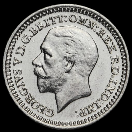 1931 George V Silver Maundy Penny Obverse
