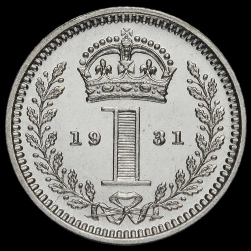 1931 George V Silver Maundy Penny Reverse