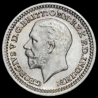 1934 George V Silver Maundy Penny Obverse