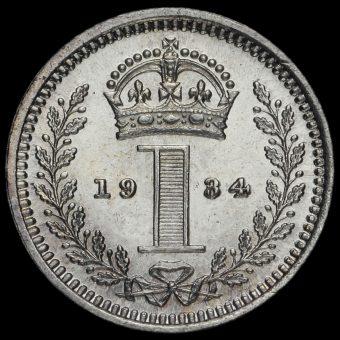 1934 George V Silver Maundy Penny Reverse