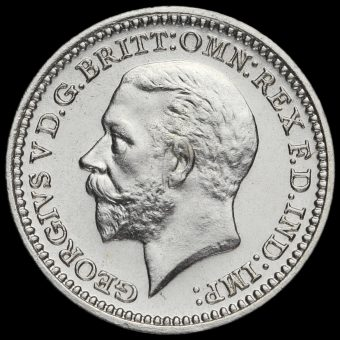 1934 George V Silver Maundy Twopence Obverse