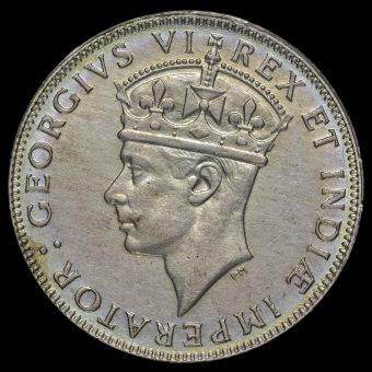 East Africa 1946 George VI Shilling Obverse