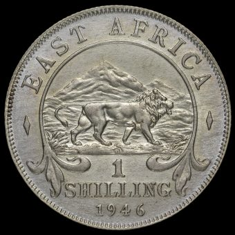 East Africa 1946 George VI Shilling Reverse