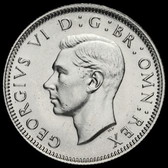 1946 George VI Silver English Shilling Obverse