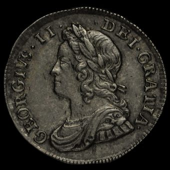 1746 George II Early Milled Silver Maundy Threepence Obverse