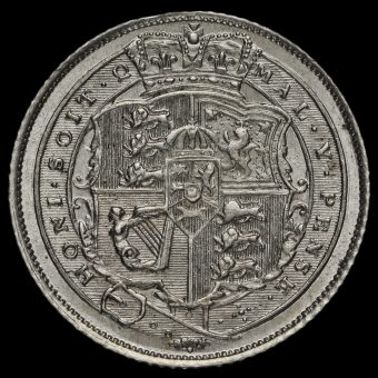 1818 George III Milled Silver Sixpence Reverse