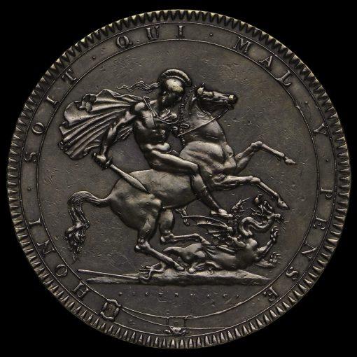 1818 George III Milled Silver LVIII Crown Reverse