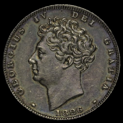 1826 George IV Milled Silver Sixpence Obverse