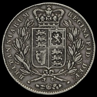 1844 Queen Victoria Young Head Silver Crown Reverse