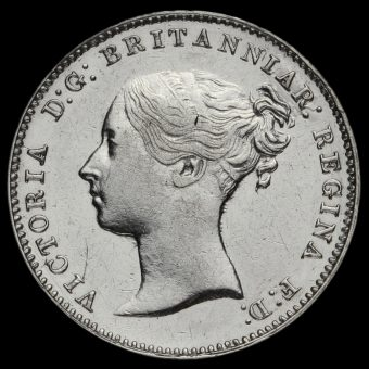 1868 Queen Victoria Young Head Silver Threepence Obverse