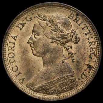 1888 Queen Victoria Bun Head Halfpenny Obverse