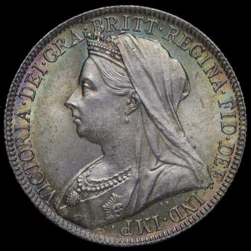 1896 Queen Victoria Veiled Head Silver Florin Obverse