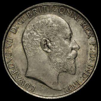 1904 Edward VII Silver Florin Obverse