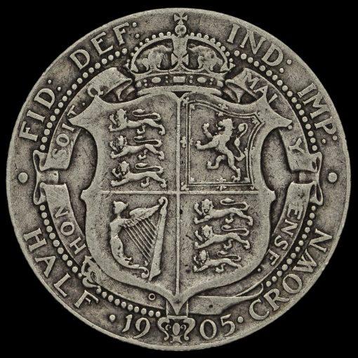 1905 Edward VII Silver Half Crown Reverse