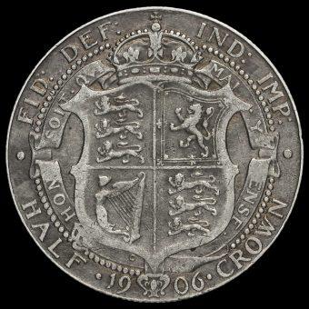1906 Edward VII Silver Half Crown Reverse