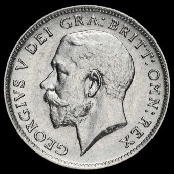 1918 George V Silver Sixpence Obverse