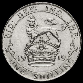 1919 George V Silver Shilling Reverse