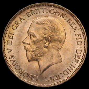 1935 George V Penny Obverse