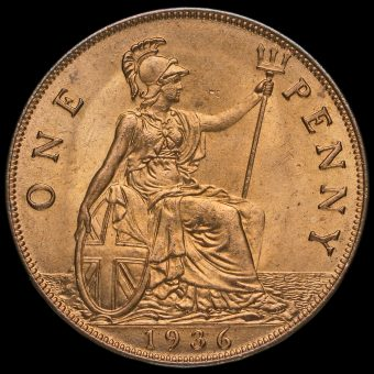 1936 George V Penny Reverse