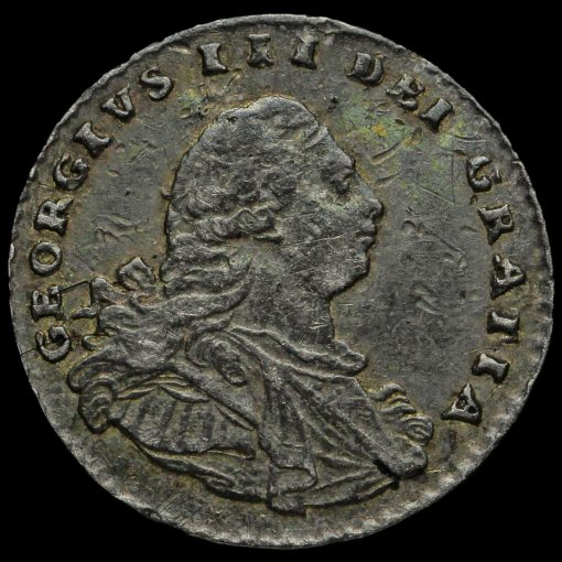 1795 George III Early Milled Silver Maundy Penny Obverse
