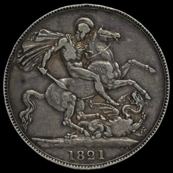 1821 George IV Milled Silver Secundo Crown Reverse