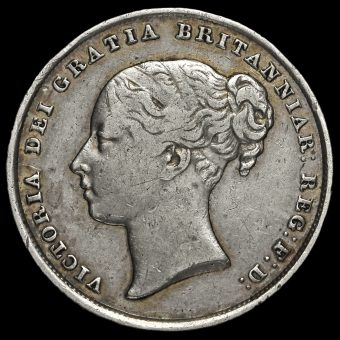1840 Queen Victoria Young Head Silver Shilling Obverse